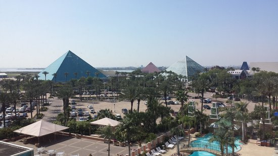 Moody Gardens Hotel Spa & Convention Center: View from a few floors up