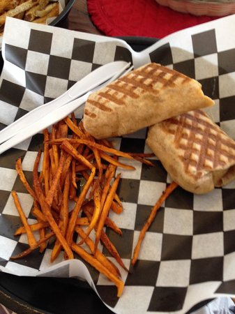 """Slick Rick's: The """" 3 Pigs in a Blanket"""" and sweet potato fries"""
