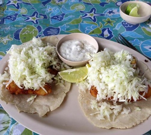 Creole's Rotisserie Chicken: Fish tacos