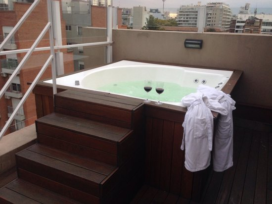 Fierro Hotel Buenos Aires : Terraço e spa privativo
