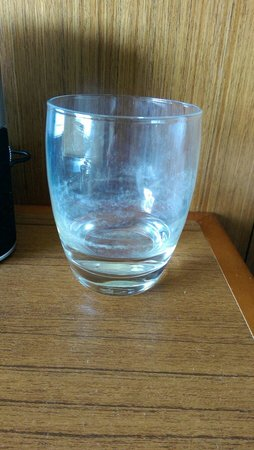 Hyatt Place Charlotte Downtown: Dirty water glass after sitting the night. Soap scum, or something in the water?