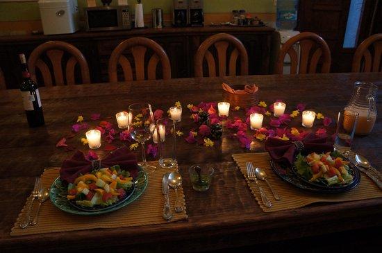 Hacienda Las Trancas: Valentine's Day dinner . . .