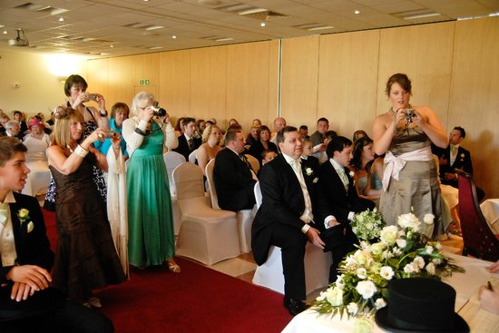 The Sharnbrook Hotel: Civil Ceremony setting for 200 guests in The Amalfi Suite