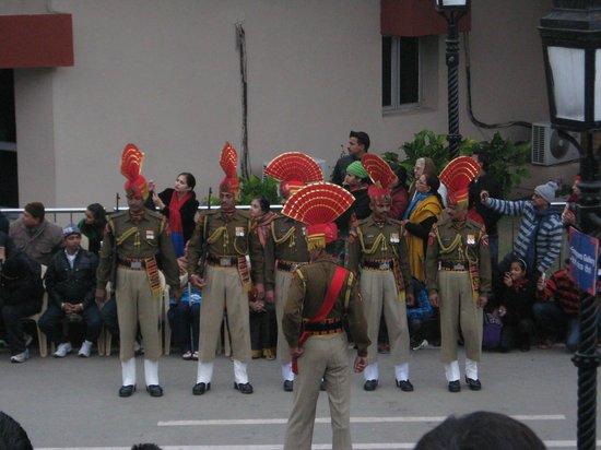Wagah Border - India's military