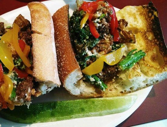Strip-T's Restaurant: Fried cauliflower sandwich