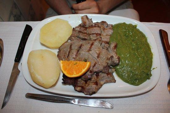 1 de maio: maiale con patate e vellutata di verdure