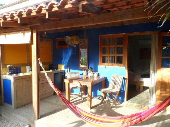Casa Calexico : De kamer met daarvoor de veranda en buitenkeuken