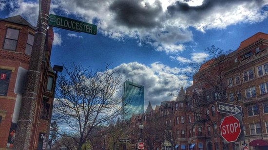 Cafeteria Boston : View from outdoor patio