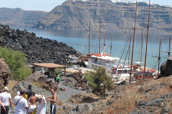 Santorini Volcano: PORTO DE ACESSO AO VULCÃO