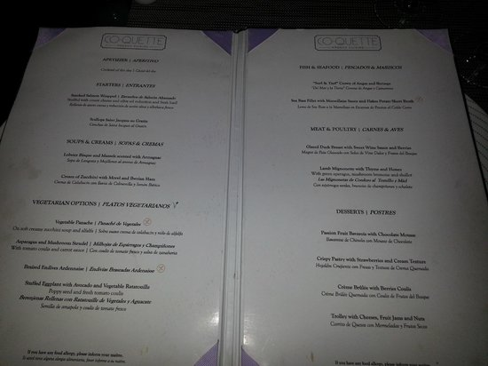 Breathless Punta Cana Resort Spa Croquette S Menu