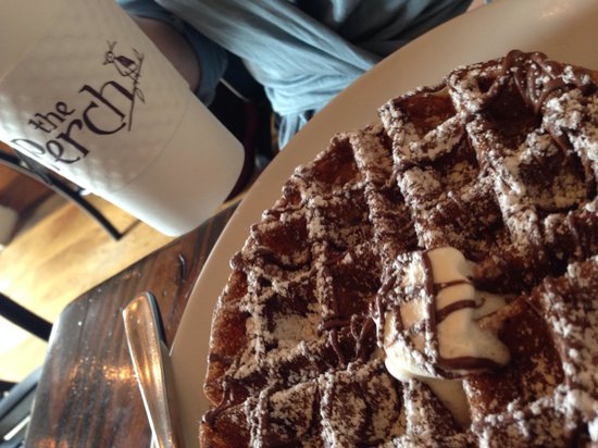 The Perch : Nutella waffle and Americana coffee - a perfect match!