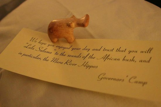 Governor's Camp: Valet's little surprises were so special