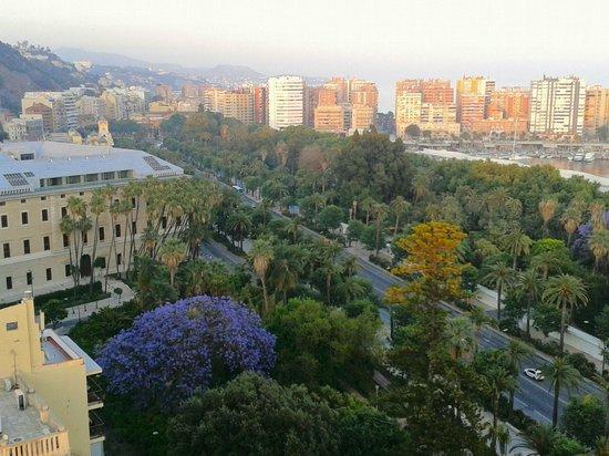 AC Hotel Malaga Palacio by Marriott : Views from the terrace: Avda of Andalucia