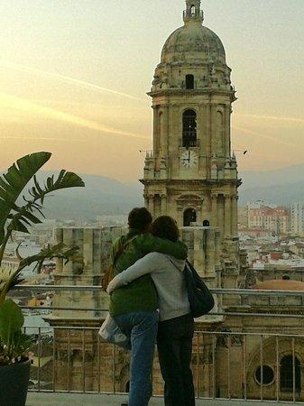 AC Hotel Malaga Palacio by Marriott : Romantic sunset