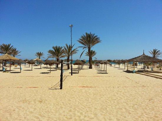 Hotel Paradis Palace: Вид на пляж во время обеда