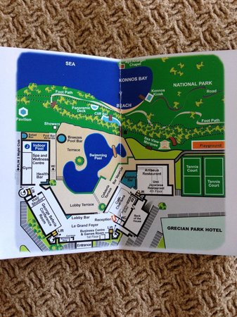 Grecian Park Hotel : Map of the grounds.
