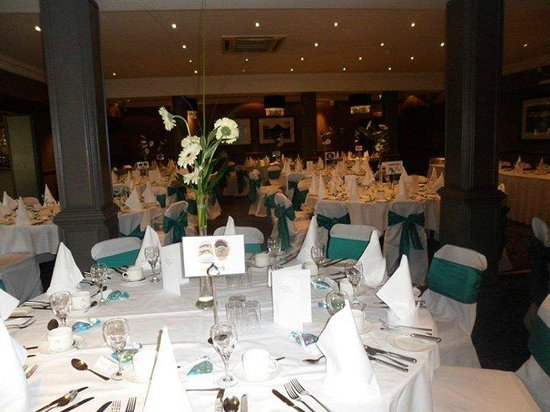 Best Western Garfield House Hotel: Function Room Wedding Set Up