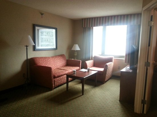 Homewood Suites by Hilton Chicago-Downtown: Full Living Room with TV and Sleeper Sofa