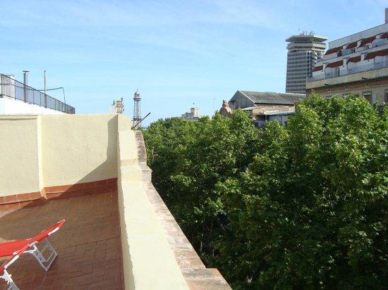 Las Ramblas Apartments: Terrace above La Rambla
