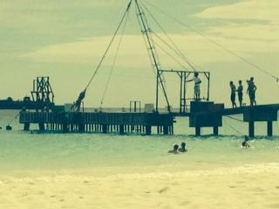 The Boatyard: rope swing