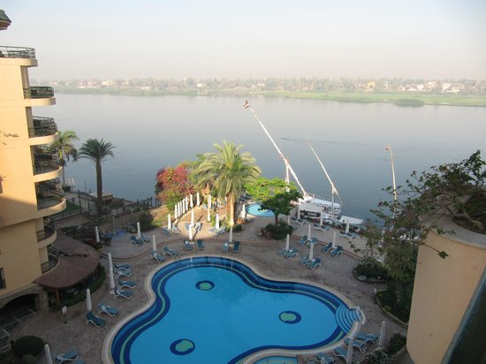 Steigenberger Nile Palace Luxor: Nile View from Balcony