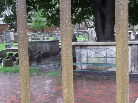 Christ Church Cemetery: View through the fence!