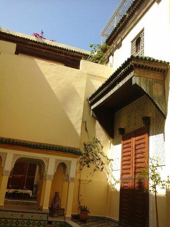 Riad Zitouna: vue du patio