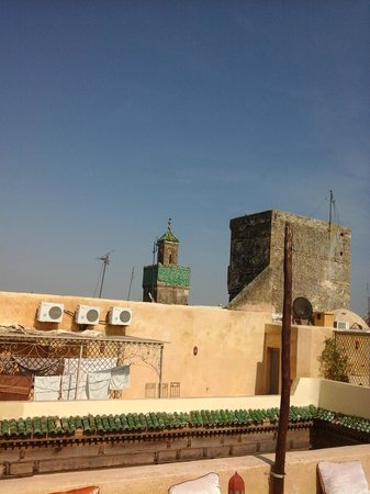 Riad Zitouna: vue de la terasse