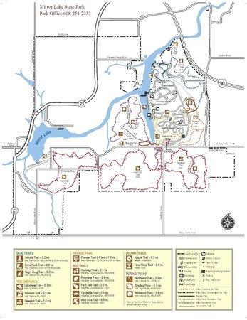 Map of Mirror Lake State Park