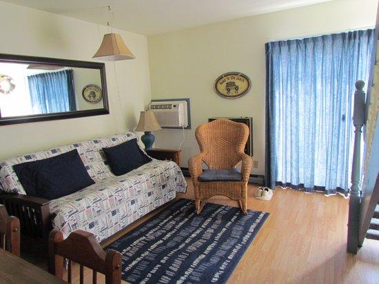 Dove Winds : Living room with sleeper sofa