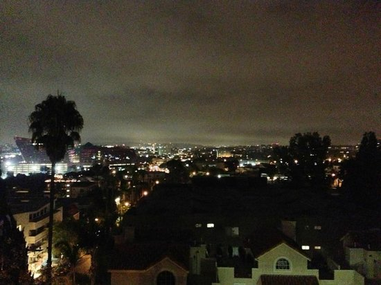 The London West Hollywood: Balcony view @ night
