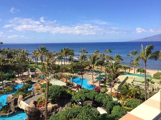 "Marriott's Maui Ocean Club  - Lahaina & Napili Towers : ""Ocean View Room"" from our balcony/kid pool area"