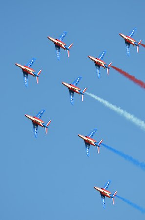 RAF Waddington Airshow: French Air Force Patrouille De France
