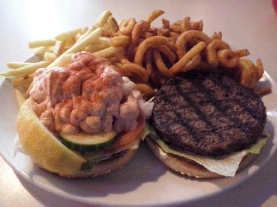 surf turf burger picture of zaks waterside grill bar norwich tripadvisor. Black Bedroom Furniture Sets. Home Design Ideas