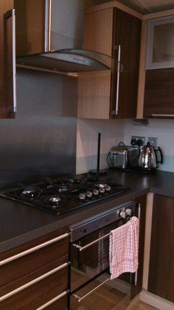 Shear Barn Holidays & Touring: modern kitchen in 2 bed lodge