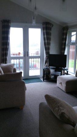 Shear Barn Holidays & Touring: lounge 3 bed lodge