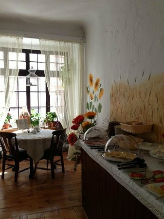 Hotel Pod Orlem: Every table has an old polish culinary book on it