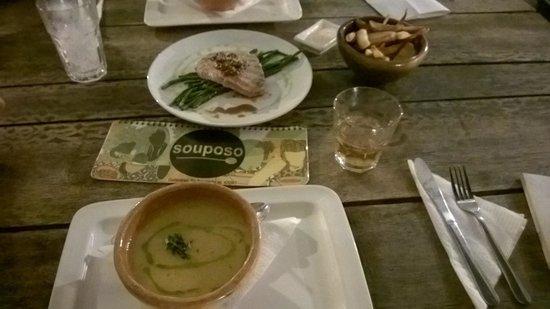 Souposo : Yummiest Pinda soup and Tuna fish ever....