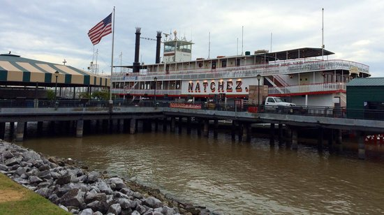 Steamboat Natchez: Side view