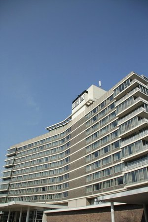 Hilton Amsterdam: The iconic design of the Amsterdam Hilton.