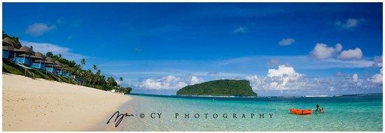 Panoramic - Lalomanu Beach & View