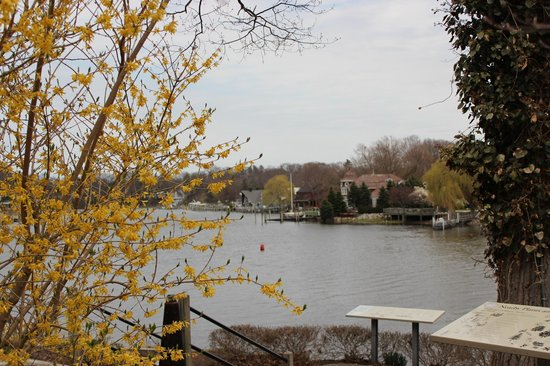 Mount Baldhead Park: View from the parking lot looking across the Kalamazoo River