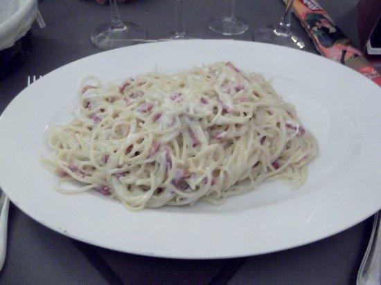 Restaurant-Pizzeria Bacchus : Spaghetti carbonara.