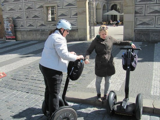 Prague On Segway, on E-Scooter, on Quad : Very helpful Ellie