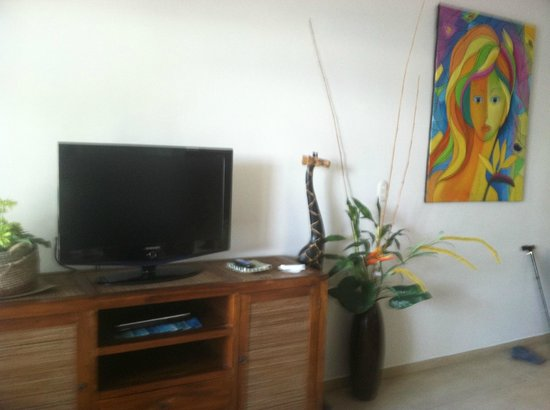 La Paloma Blanca : Living Room  ONLY ONE TV IN UNIT