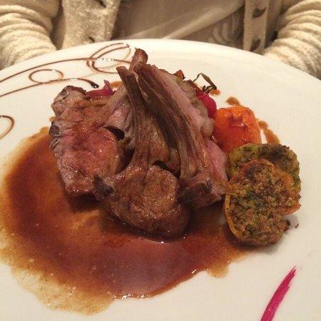 Restaurant l'Antidote Christophe Ferré : Carré d'agneau