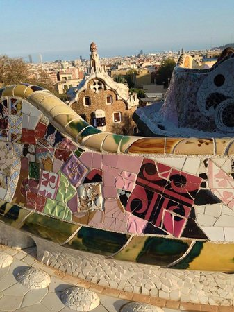 Parc Güell : View from the terrace