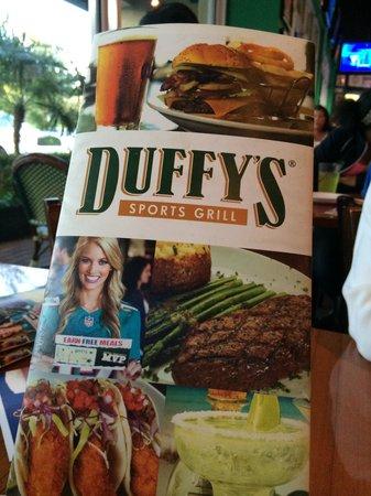 Duffy's Sports Grill: Menu