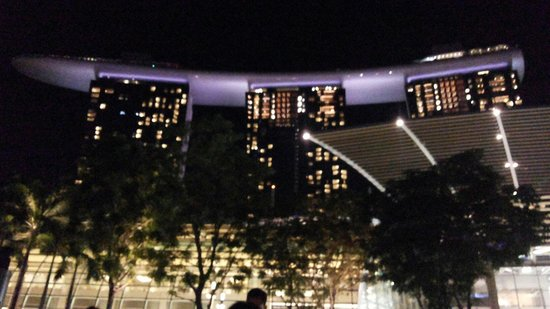 Marina Bay Sands at night! Watch the water light show and be further amazed