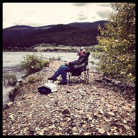 Moyie, Kanada: Fishing well sorta